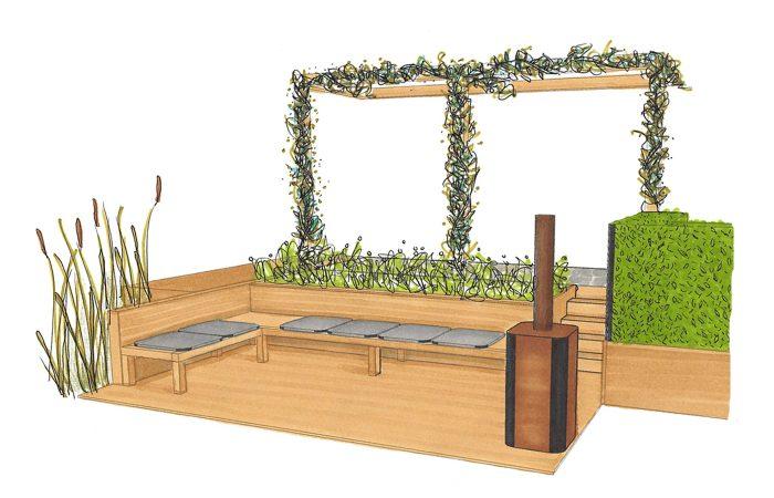Plaid Dille En Kamille.Garden Renovation Results Design Studio Nu Design
